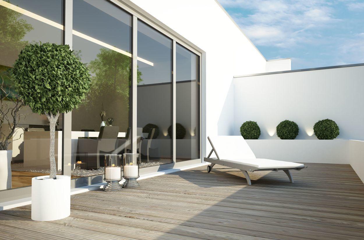 Terrasse Penthouse Neubau