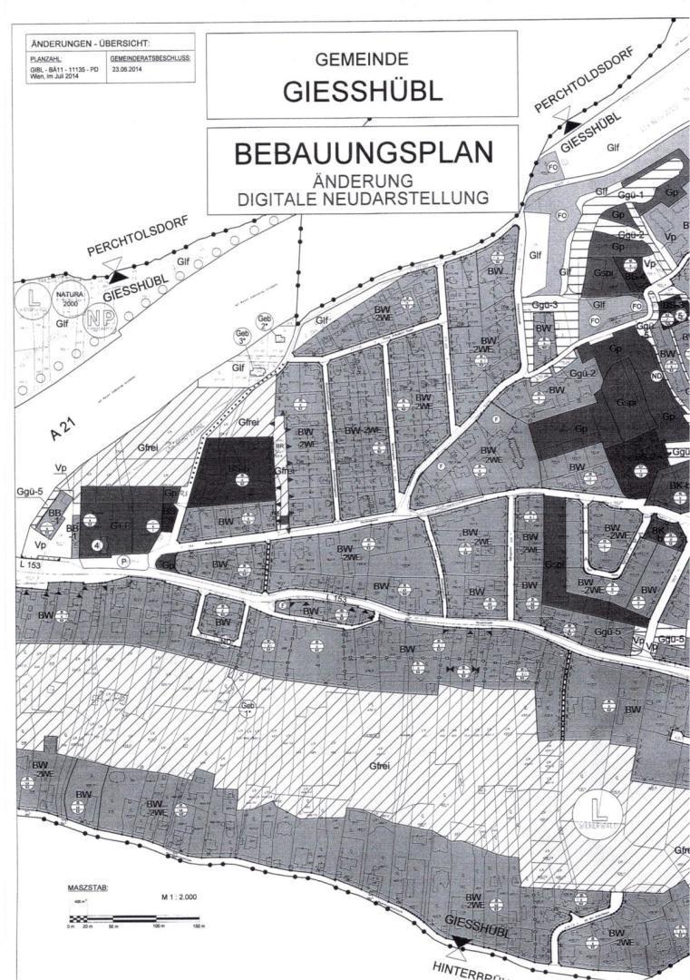 Sehr EXKLUSIV gelegenes VILLEN-BAUGRUNDSTÜCK in Gießhübl