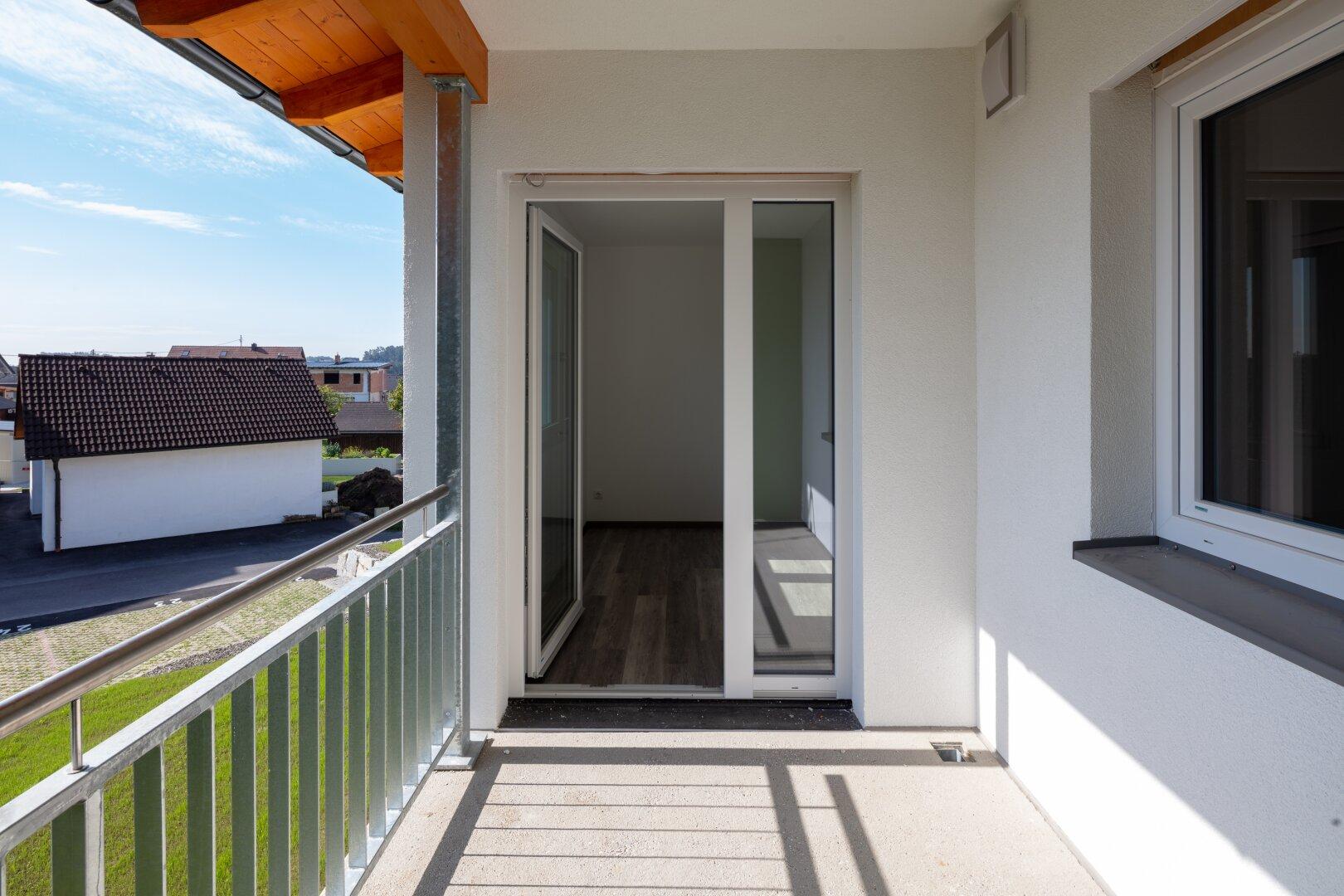 Loggia einer 46 m² Wohnung im OG