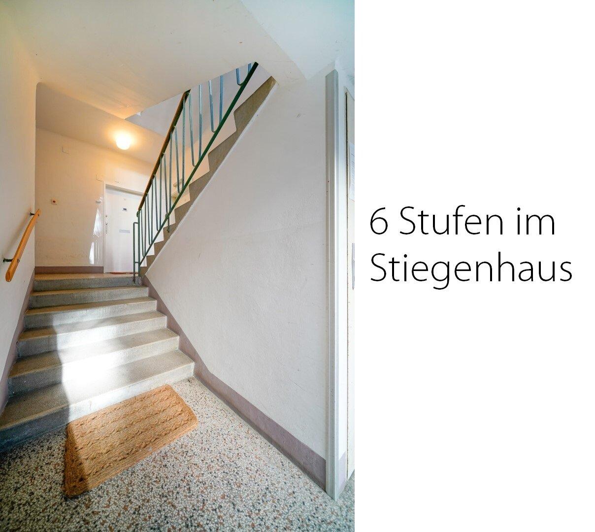 6 Stufen im Stiegenhaus
