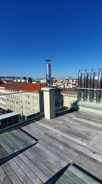 Toplage Nähe Rubenspark: Dachwohnung mit Panoramaterrasse - Erstbezug!