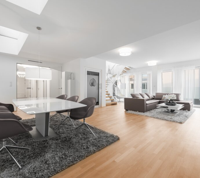 First-class penthouse situated close to Burggarten/Opera house