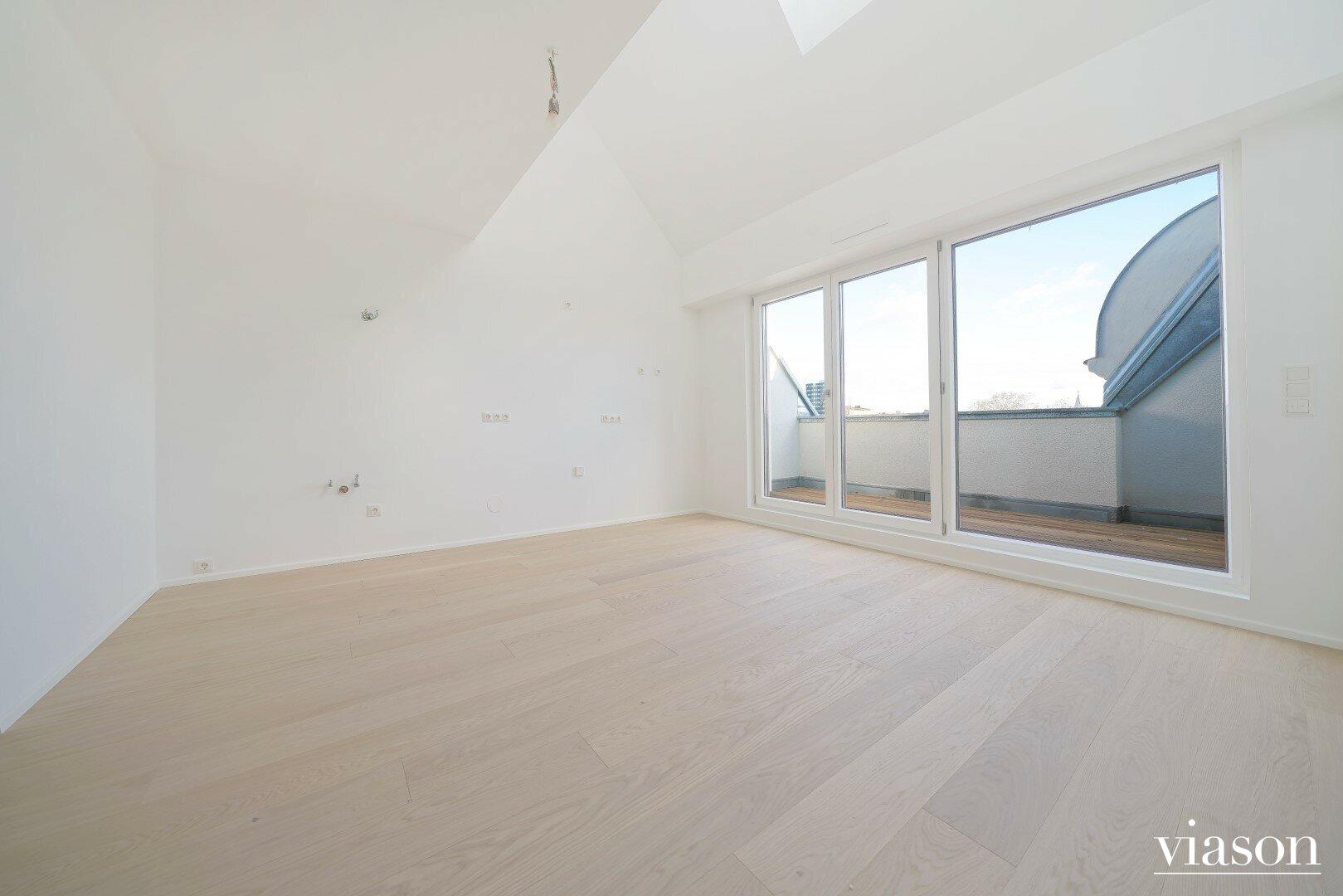Wohnzimmer mit Terrasse Ruckergasse