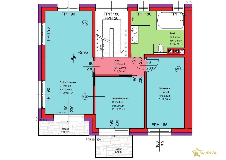 HAUS 2 Obergeschoss (3 Zimmer)
