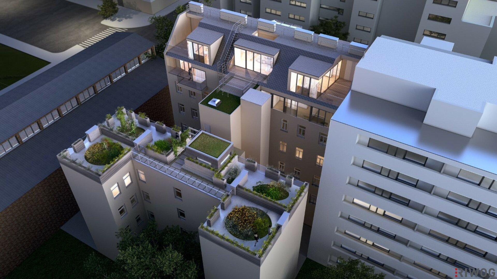 ROOFTOP Garden´s | einzigartige Dachgeschoss-Wohnungen mit großzügigen Gartenflächen (Projektansicht)