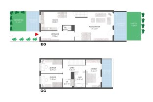 Topsanierter 4-Zi. Erstbezug mit Garten und Terrassen