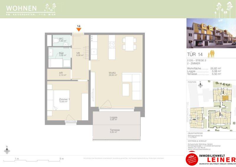 Südseitige 2 Zimmer Eigentumswohnung in ruhiger Lage - Familientraum Objekt_12080 Bild_593