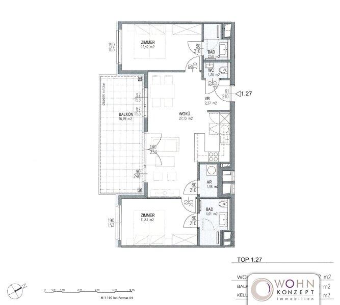Neuwertig: Gartenseitiger 64m² Neubau + 16m² Balkon u. Topeinbauküche - 1030 Wien /  / 1030Wien / Bild 9
