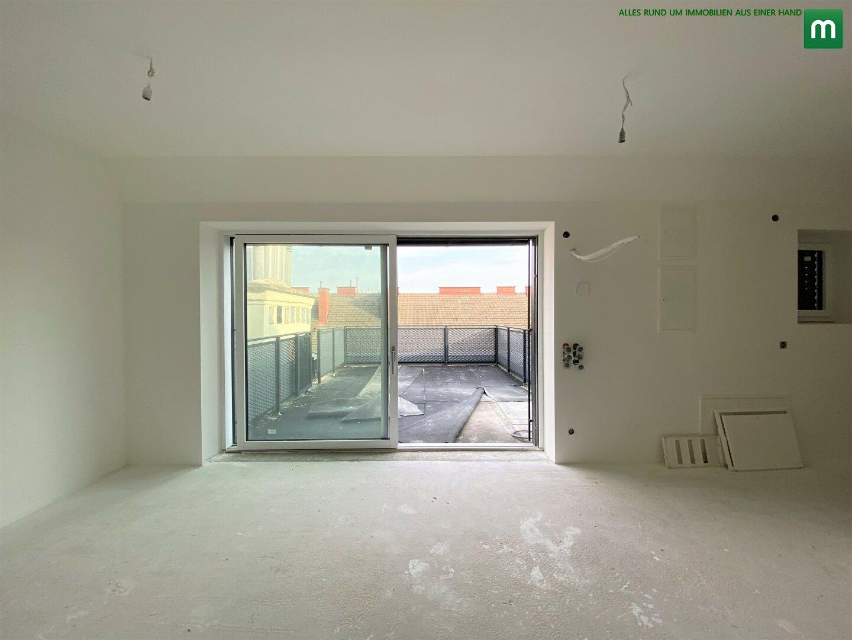 Wohnzimmer / Blick auf Terrasse 2