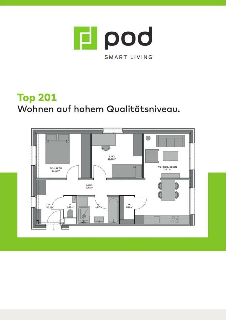 Wohnungsplan Top 201