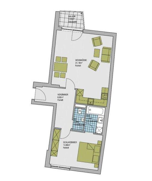 Zentral gelegene Neubauwohnung mit Balkon /  / 1180Wien / Bild 1