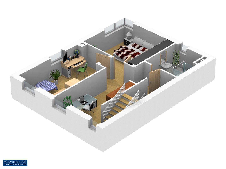 3D-Ansicht 1 Obergeschoß