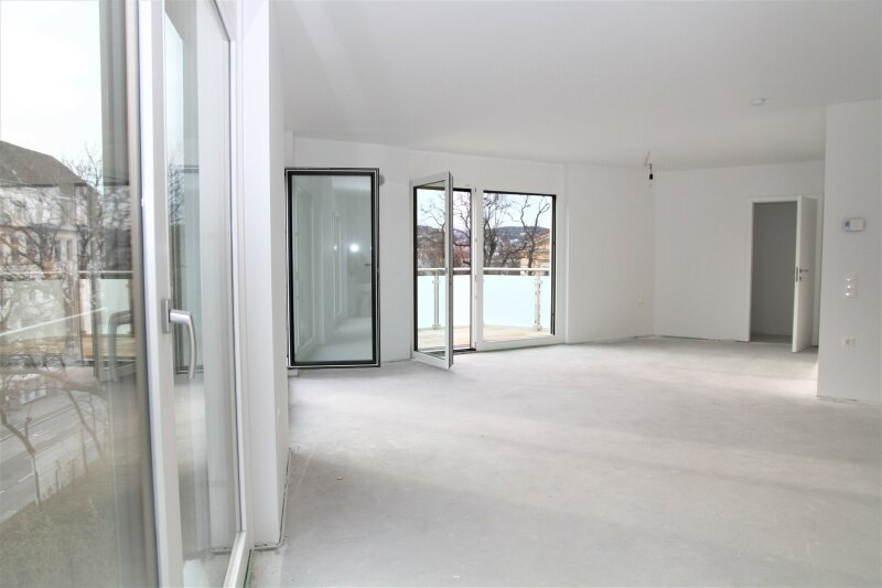 3 BALKONE+3 französische Balkone! 53m²-Wohnküche + 4 Zimmer, 3. Stock, Bj. 2017, Obersteinergasse