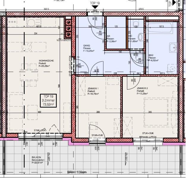 Top 19 - Freifinanzierte 3 Zimmer Wohnung mit 20m² Balkon - MIETEN oder MIETKAUF /  / 2700Wiener Neustadt / Bild 4