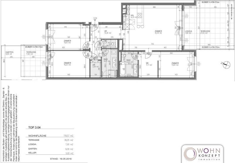 Goldegg Gardens: 126m² Erstbezug + 39m² Terrassen - 1040 Wien /  / 1040Wien / Bild 8