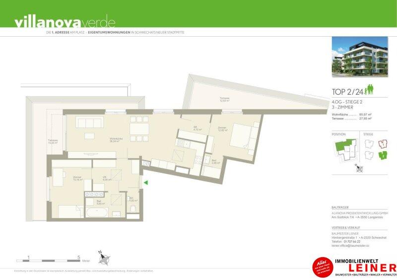 Schwechat - Penthouse - inklusive 28 m² Terrasse Objekt_9966 Bild_288