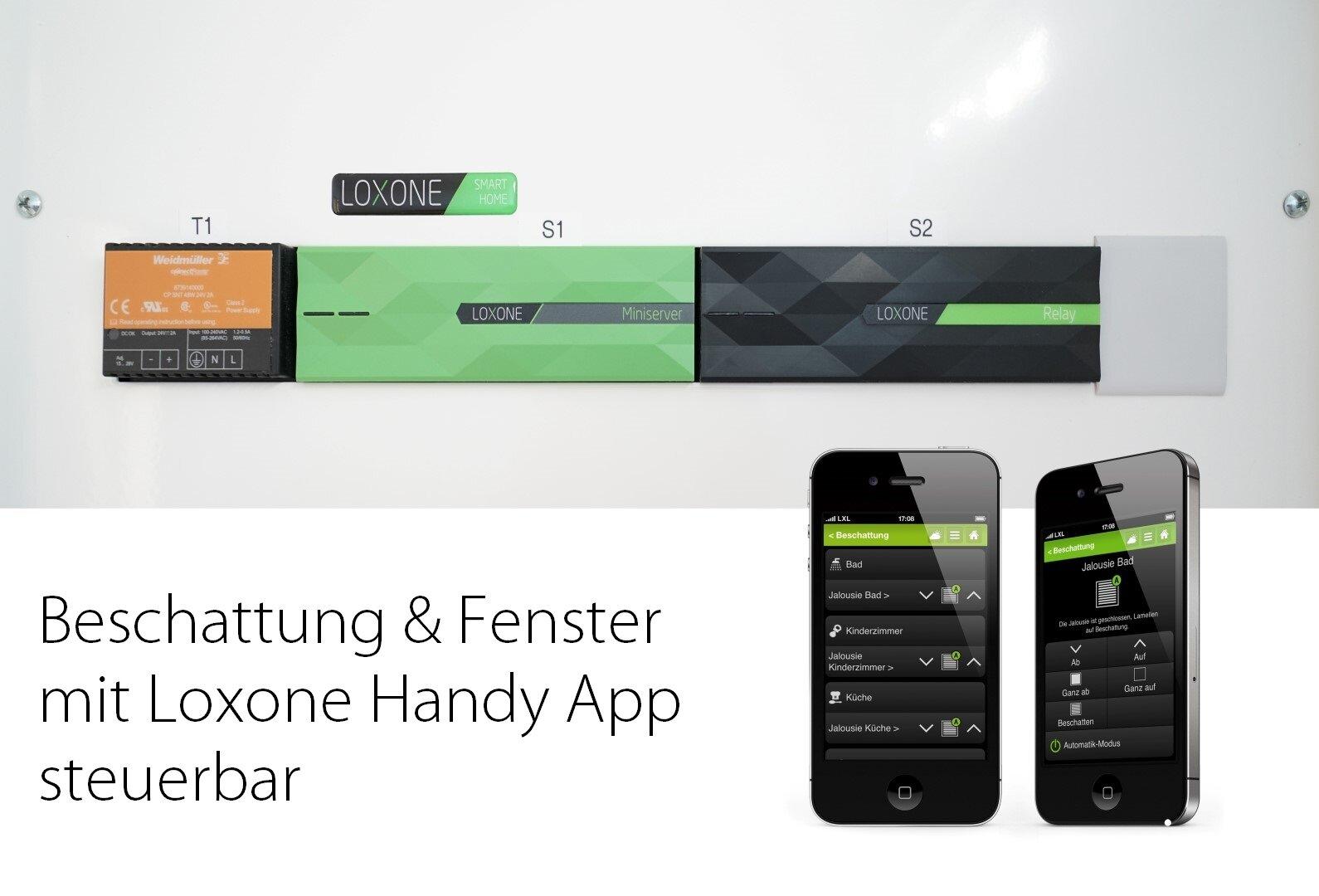 Beschattung & Fenster per Handy App steuern