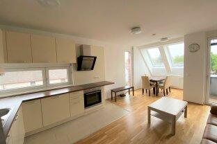 Besonders attraktive ruhige möblierte 2-Zimmerwohnung mit Terrasse nahe U1 / Attractive quiet furnished 2-room apartment with terrace close U1