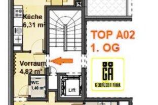 Eigentumswohnung  3 Zimmer Terrasse  2 Garagenplätze