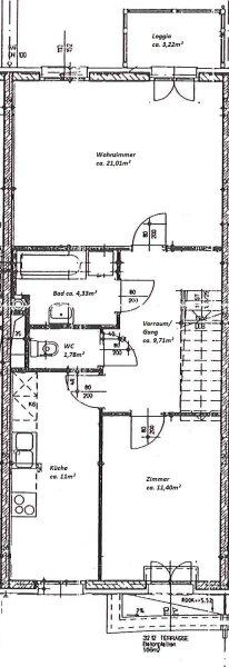 Moderne, frisch sanierte 2-Zimmer Wohnung, Loggia, Grünblick und Garage! /  / 1210Wien / Bild 2