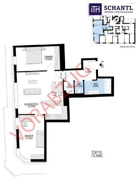 """Neubau-Eckwohnung mit großartigem Blick und perfekter Raumaufteilung! Investieren in den """"Alserhof""""! Worauf warten Sie noch? /  / 1090Wien / Bild 7"""