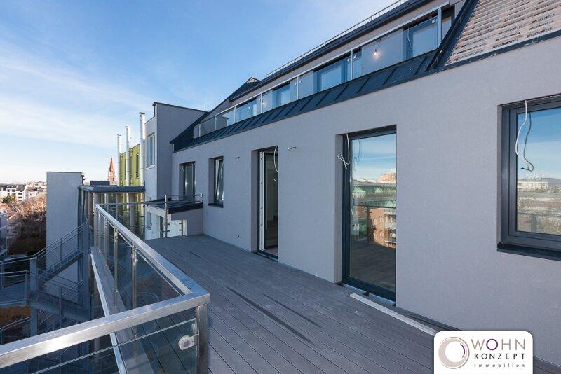 PROVISIONSFREI - DACHGESCHOSS - ERSTBEZUG - 2 Zimmer-Wohntraum mit ca. 20m² Terrasse ohne Dachschrägen in 1140 Wien