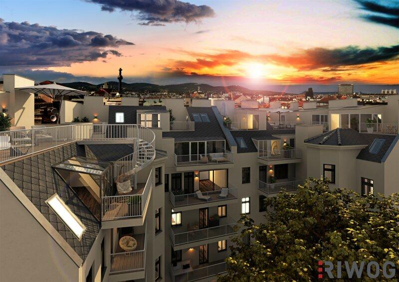 Traumhafte DG-Maisonette *Projekt SOHO-Augarten* Ruhelage Nähe Friedensbrücke! /  / 1200Wien / Bild 1
