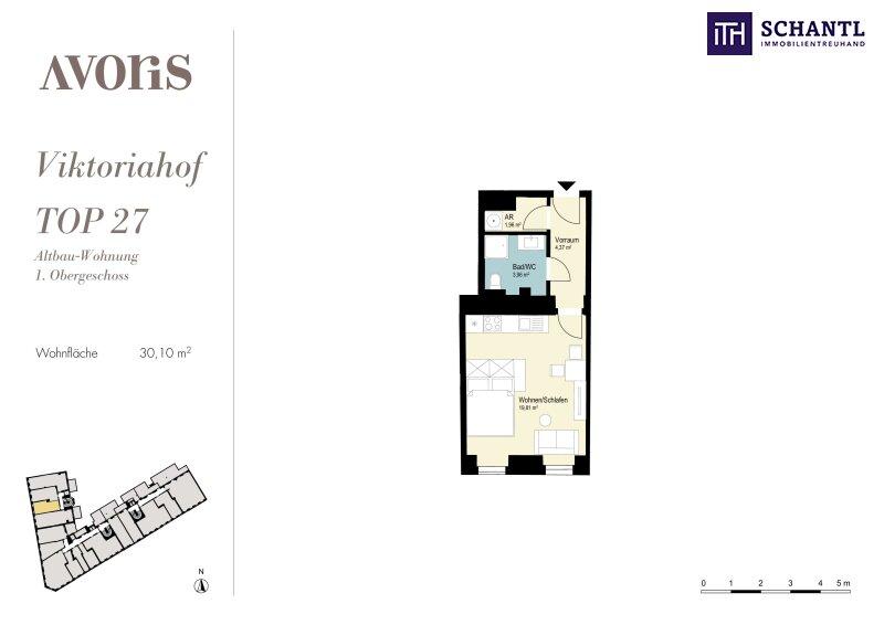 Ihre perfekte Kleinwohnung! Viel Platz auf wenigen Quadratmetern! Hochwertige Sanierung + Beste Infrastruktur + Komplett saniertes Haus! /  / 1150Wien / Bild 15