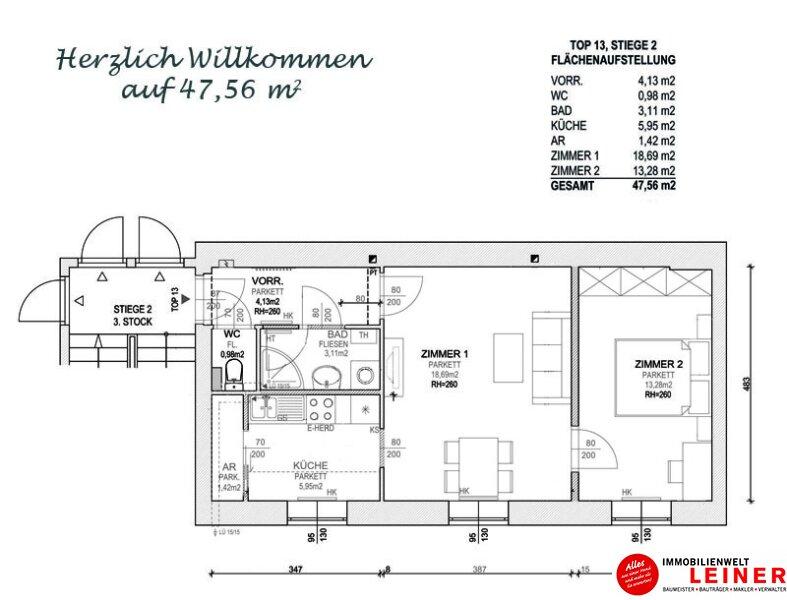 Schwechat - Rannersdorf:  herrlich ruhige 2 Zimmer - 48 m² Mietwohnung in bester Lage! Objekt_9868 Bild_574