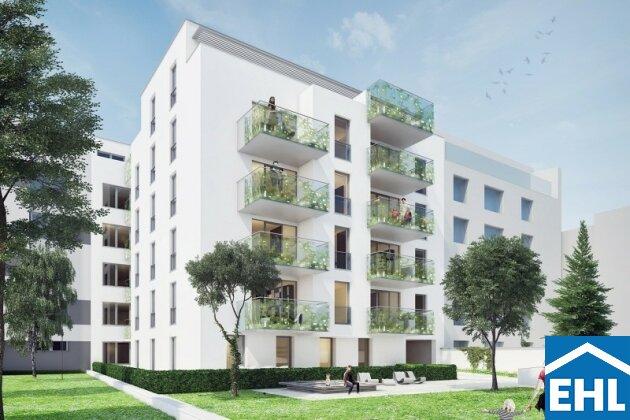 Moderne Dachgeschosswohnung in urbaner Grünoase nahe der Alten Donau