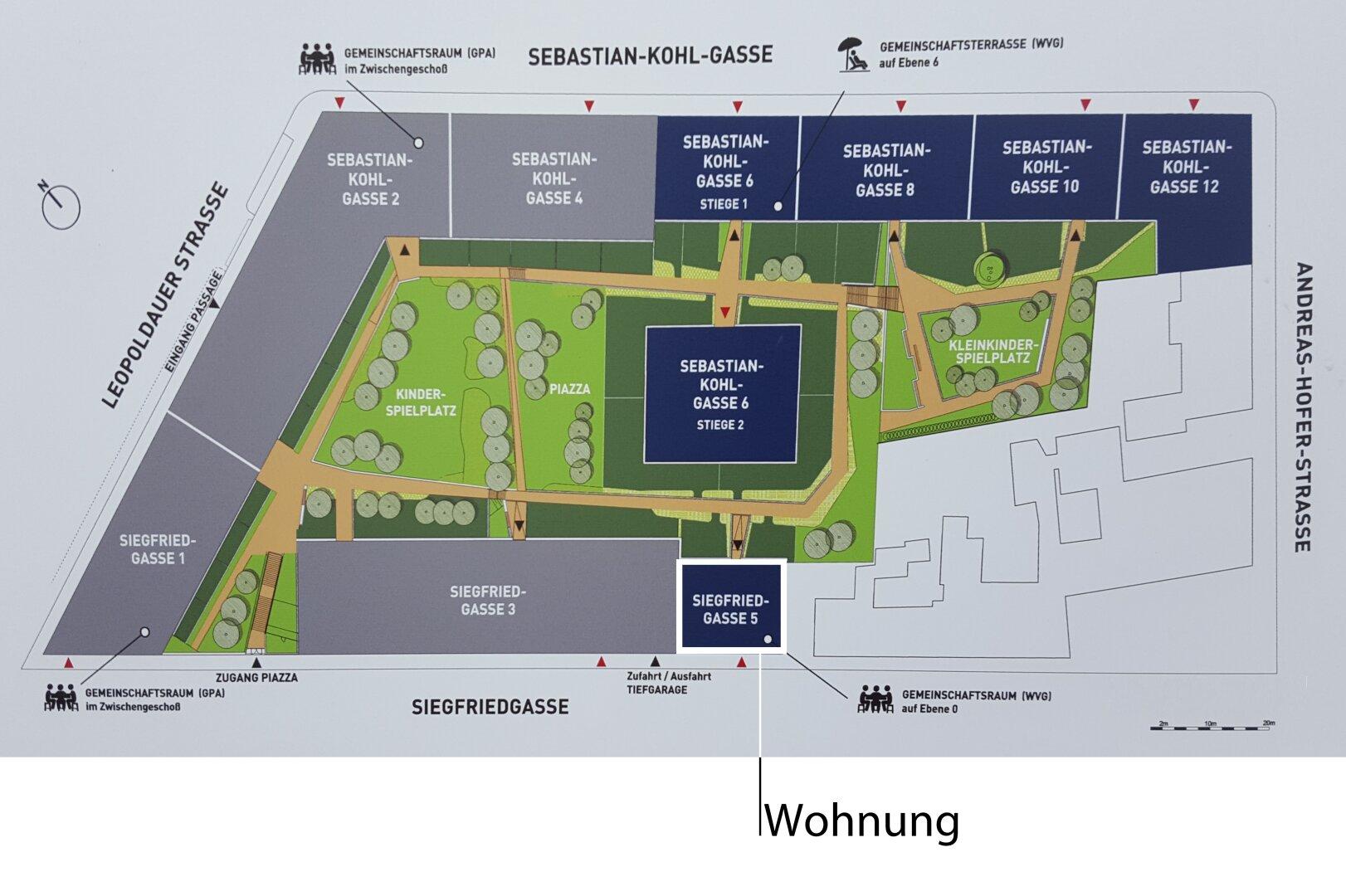 Lageplan Wohnhausanlage