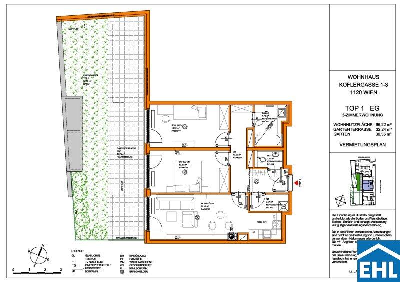Schöne 3 Zimmer-Gartenwohnung direkt am HAYDNPARK /  / 1120Wien / Bild 9