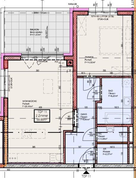 Top 11 - Freifinanzierte 2 Zimmer Wohnung mit Balkon - MIETE oder MIETKAUF /  / 2700Wiener Neustadt / Bild 4