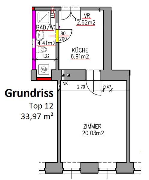 KOMPLETT SANIERTE 1-Zimmer-Wohnung direkt bei U6 Dresdner Straße! /  / 1200Wien / Bild 8