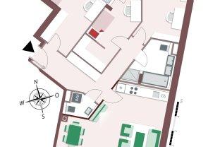 Toll geplante 4-Zimmer Familienwohnung mit Balkon und Loggia