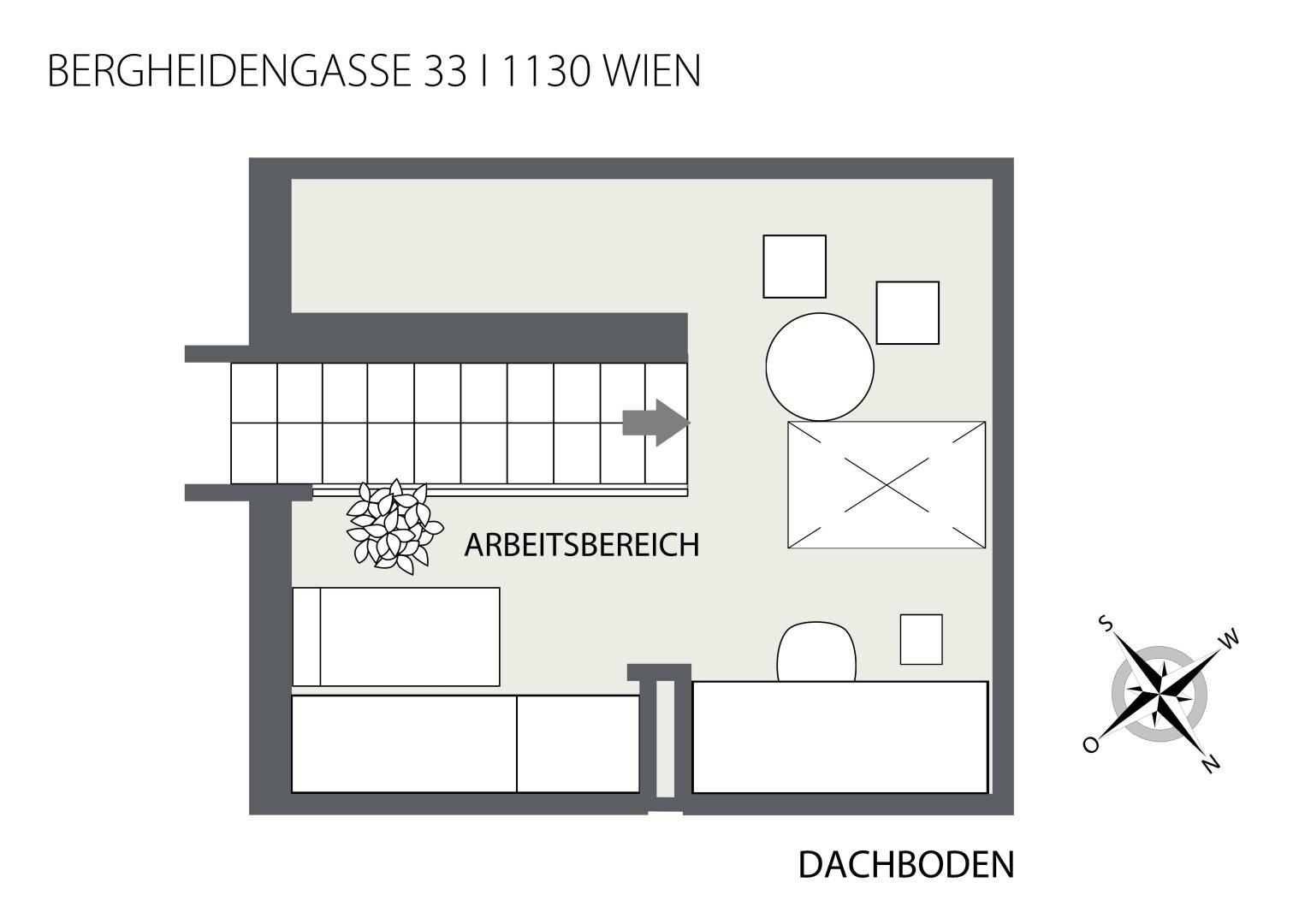 2D Wohnungsplan Dachboden