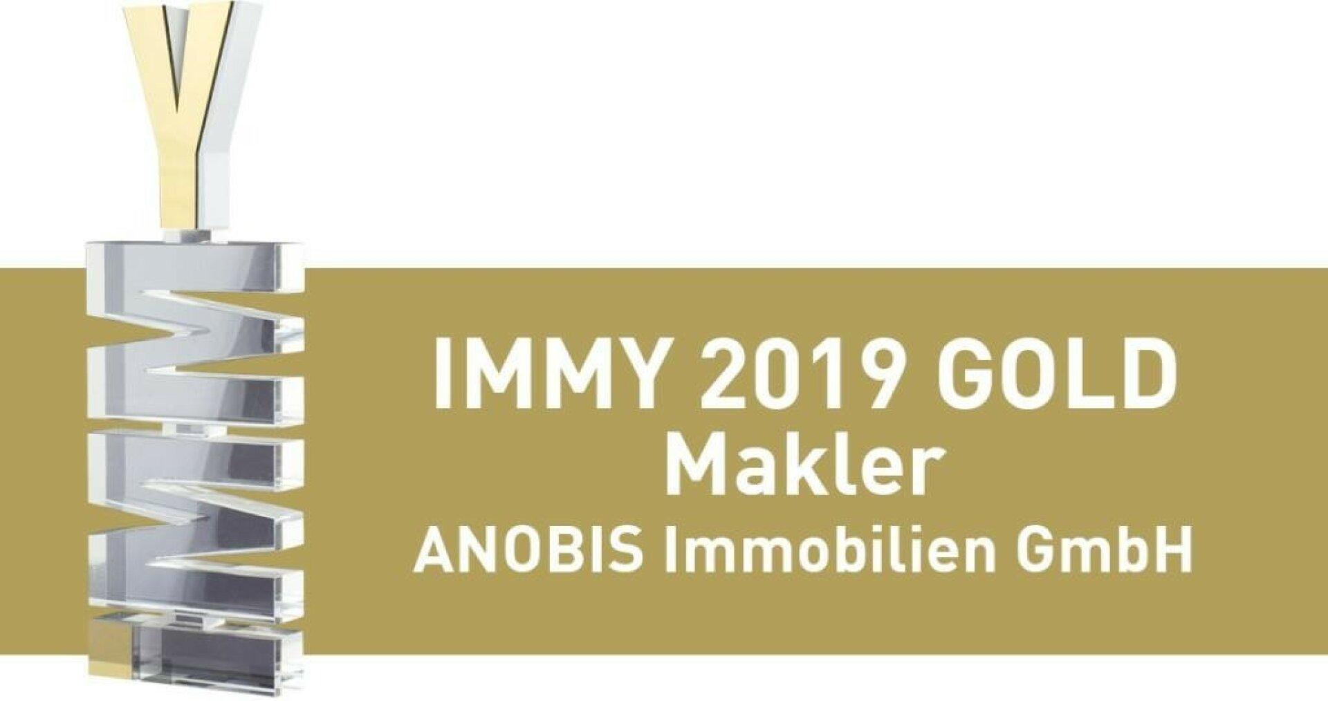 IMMY 2019 Gold für ANOBIS Immobilien