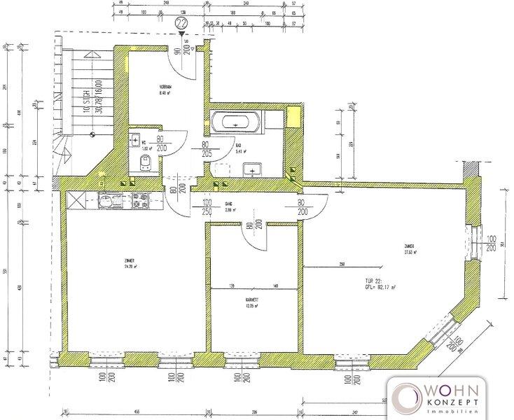 Unbefristeter 82m² Altbau mit Einbauküche und Lift! /  / 1160Wien / Bild 10