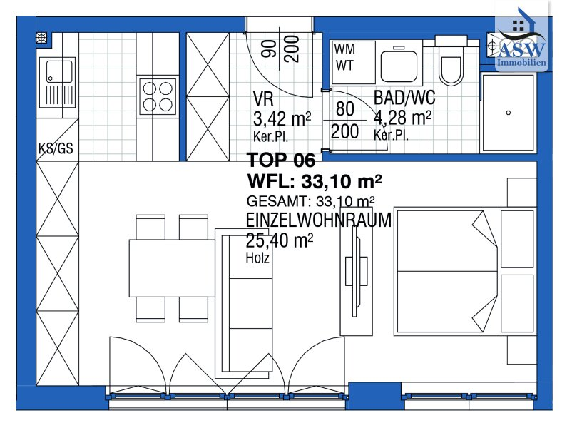 Erstbezug: Stilvolle 1 - Zimmerwohnung nähe Bahnhof Meidling /  / 1120Wien / Bild 6