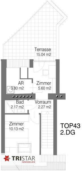 Hochwertig errichtete 2,5 Zimmer DG-Maisonette mit Küche, Abstellraum, Terrasse und fantastischem Wienblick! /  / 1100Wien / Bild 10