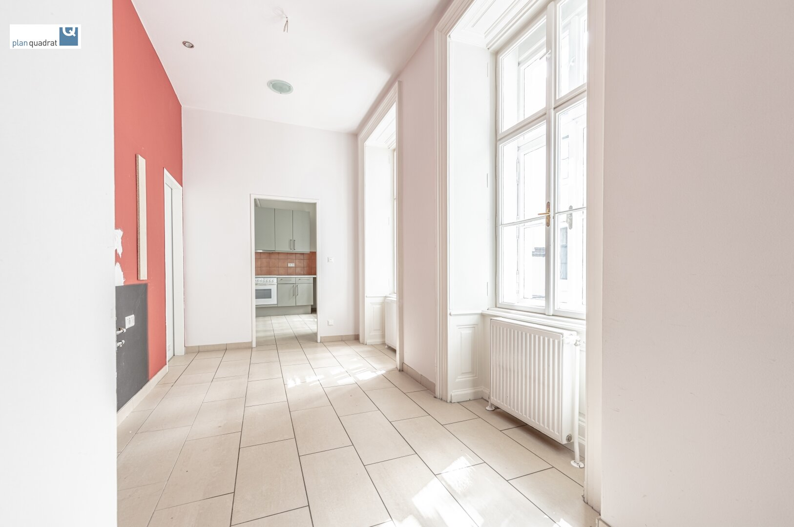 Vorraum (ca. 9,00 m²) - Zugang von Stiege 2 (Nebeneingang)