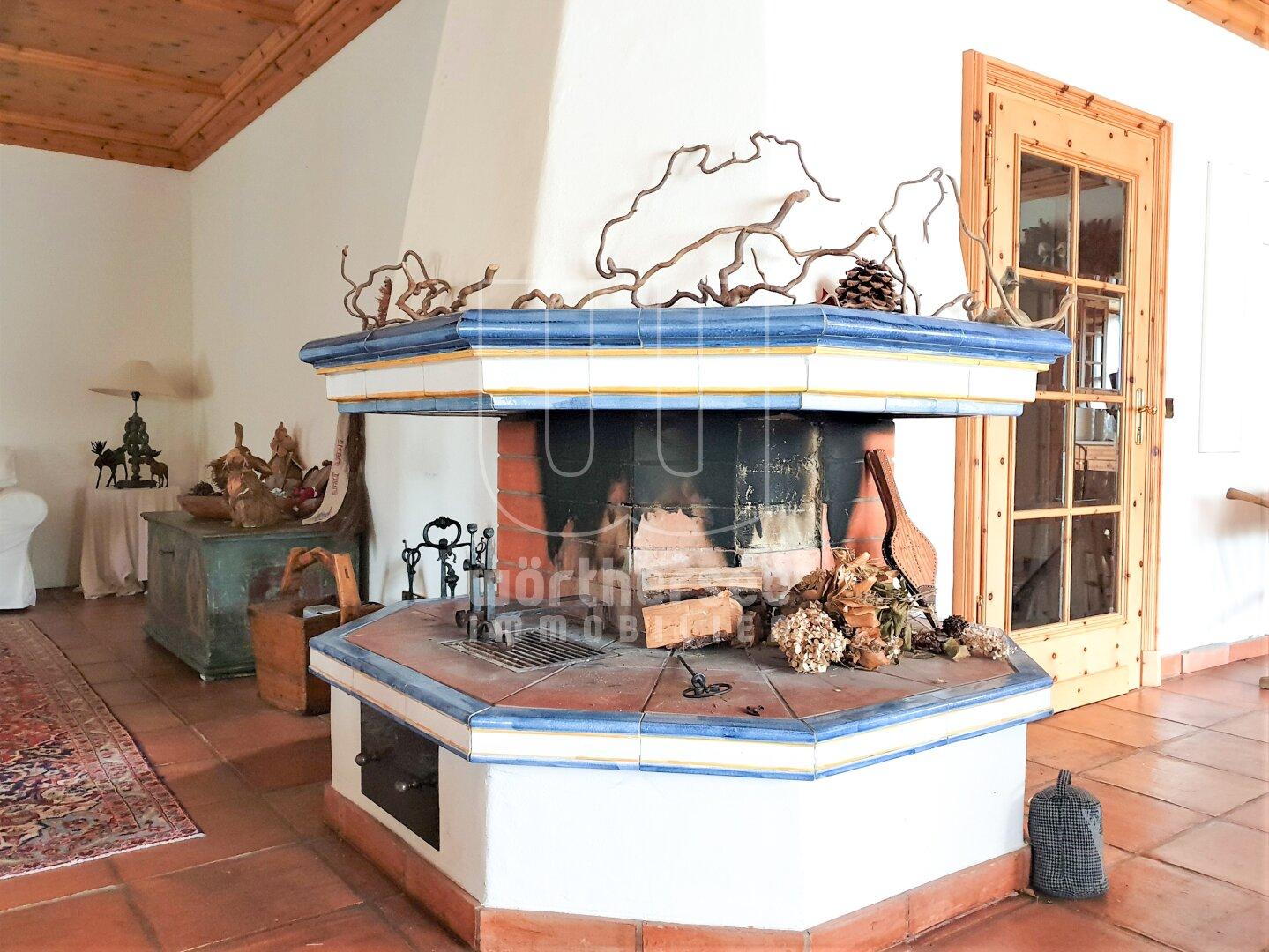 Feuerstelle im Wohnzimmer