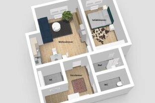 Perfekt geschnittene 2-Zimmer Wohnung - sanierungsbedürftig