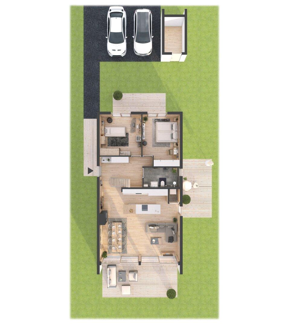 3 D Grundriss Erdgeschoss