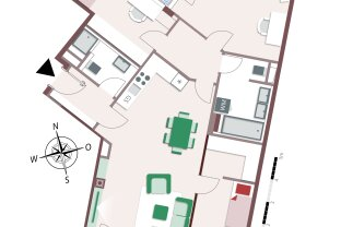 Wunderschöne 4-Zimmer Familienwohnung mit Balkon und Loggia