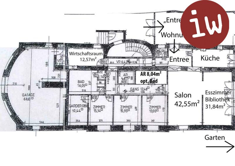 Stilvolles Wohnen in Klosterneuburgs Stadtzentrum, traumhafter Garten Objekt_607 Bild_13