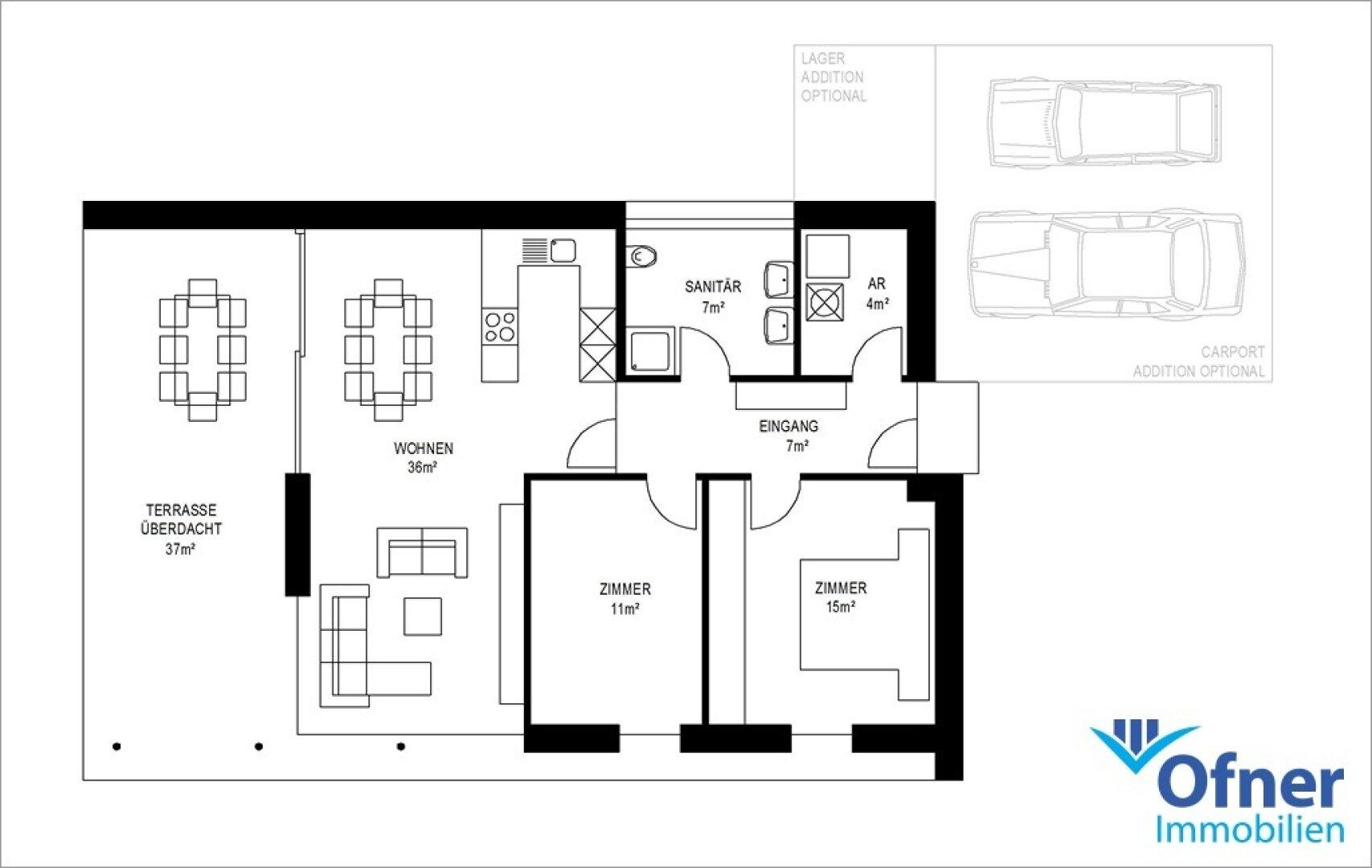 Grundriss 80 m²