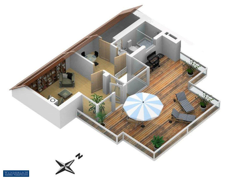 3D-Ansicht 1 Terrassengeschoss