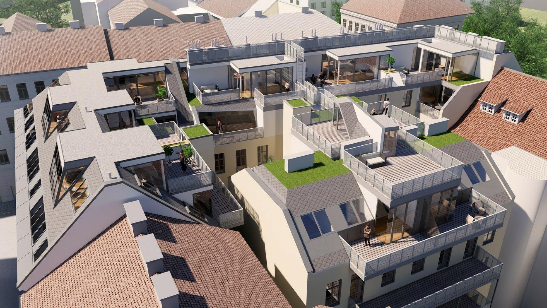 Qualität ist kein Zufall - exklusive Dachgeschosswohnungen in wunderschön saniertem Gründerzeithaus (Projektansicht)