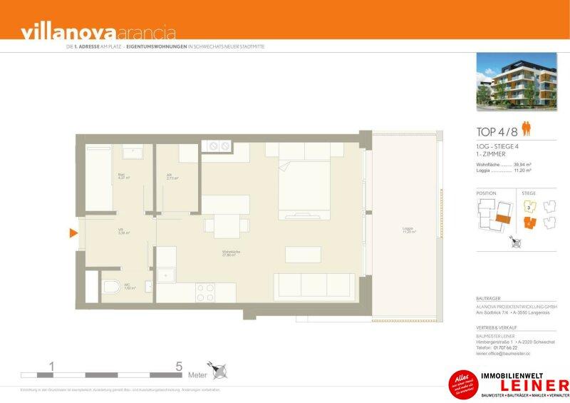 Großzügige Einzimmerwohnung mit Tiefgaragenplatz in Schwechat Objekt_9688 Bild_788